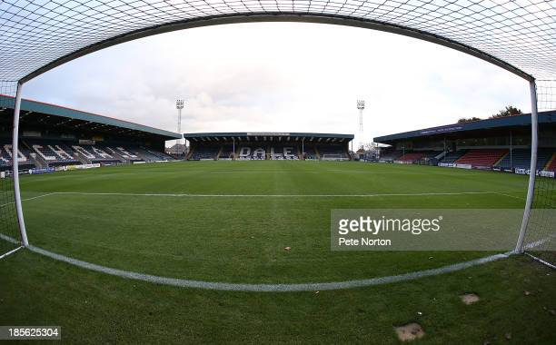 A general view of Spotland Stadium prior to the Sky Bet League Two match between Rochdale and Northampton Town at Spotland Stadium on October 22 2013...