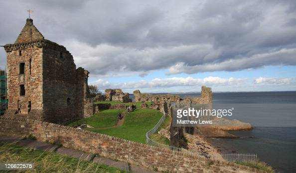 A general view of St Andrews Castle prior to the start of The Alfred Dunhill Links Championship at The Old Course on September 26 2011 in St Andrews...