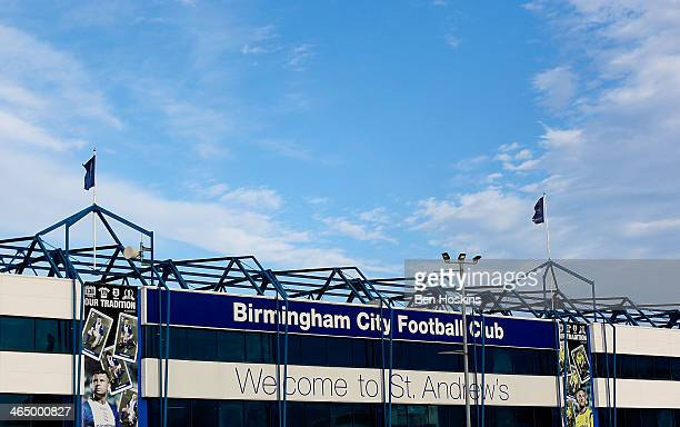 A general view of St Andrews prior to the Budweiser FA Cup Fourth Round match between Birmingham City and Swansea City at St Andrews on January 25...