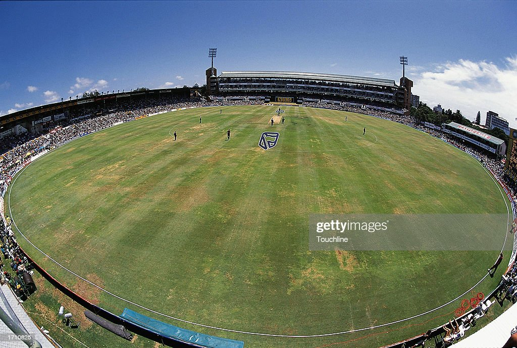 A general view of St George's Park Cricket Ground Port Elizabeth during the 4th one day international between South Africa and the West Indies at St...