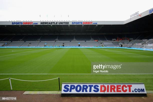 A general view of St James Park ahead of the Premier League match between Newcastle United and Crystal Palace at St James Park on October 21 2017 in...