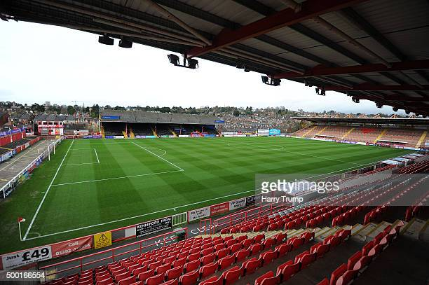 General view of St James Park prior to kick off during the Emirates FA Cup Second Round match between Exeter City and Port Vale at St James Park on...