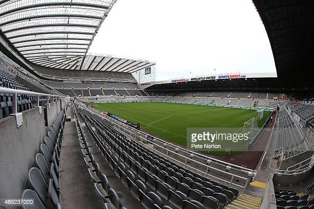 A general view of St James' Park prior to the Capital One Cup Second Round between Newcastle United and Northampton Town at St James' Park on August...