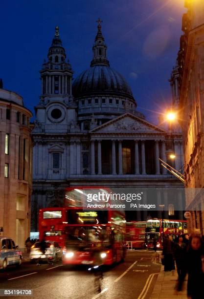 A general view of St Paul's in London which was unlit tonight as part of Energy Saving Day or EDay which asks participants to switch off electrical...