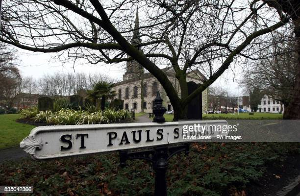 A general view of St Paul's Square in Birmingham near the city's Jewellery Quarter showing examples of signs both with and without an apostrophe