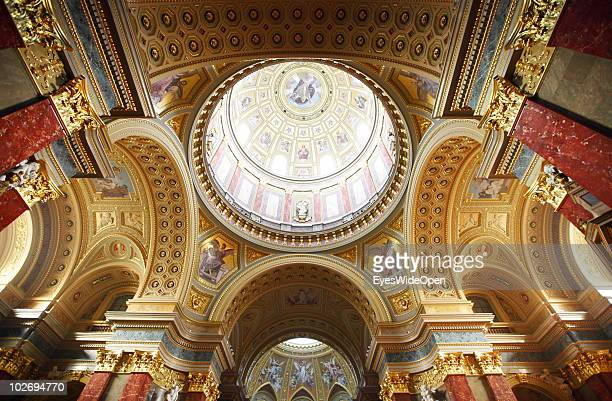 A general view of St Stephen's Basilica on May 30 2010 in Budapest Hungary Budapest is a big european city and the hungarian capital with more than...