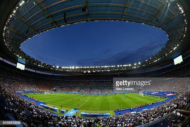 General view of Stade de France during the UEFA EURO 2016 Final match between Portugal and France at Stade de France on July 10 2016 in Paris France