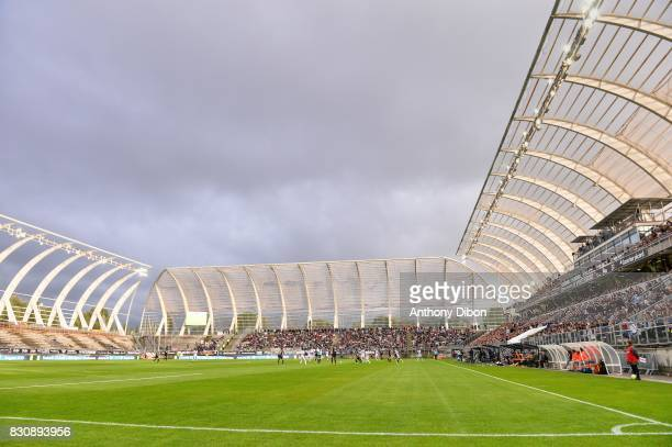 General view of Stade De La Licorne during the Ligue 1 match between Amiens SC and Angers SCO at Stade de la Licorne on August 12 2017 in Amiens