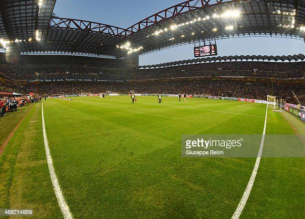 General view of Stadio Giuseppe Meazza before the Serie A match between AC Milan and FC Internazionale Milano at Stadio Giuseppe Meazza on May 4 2014...
