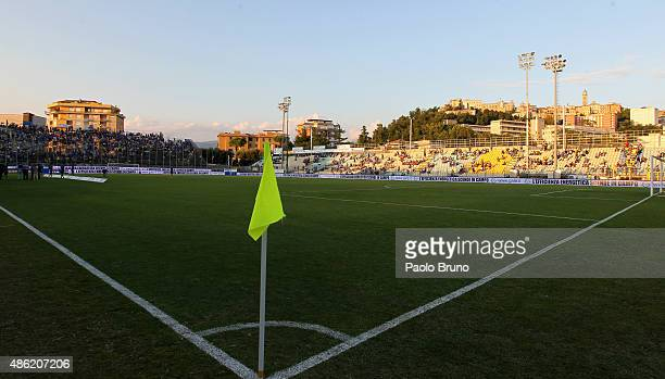 A general view of Stadio Matusa during the Serie A match between Frosinone Calcio and Torino FC at Stadio Matusa on August 23 2015 in Frosinone Italy