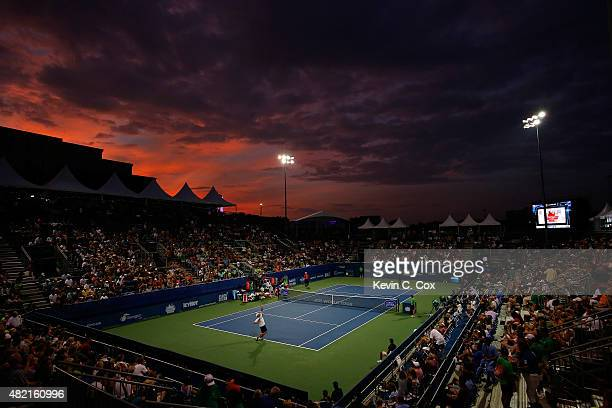A general view of Stadium court prior to the exhibition match between Andy Roddick and Frances Tiafoe during the BBT Atlanta Open at Atlantic Station...