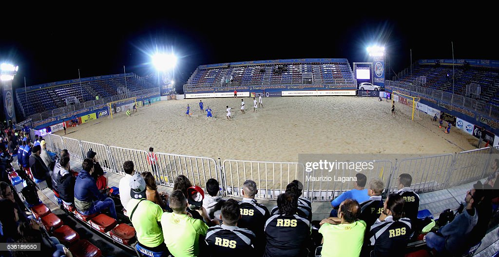 A general view of stadium during the beach soccer international frienldy between Italy and Iran on May 31, 2016 in Catania, Italy.