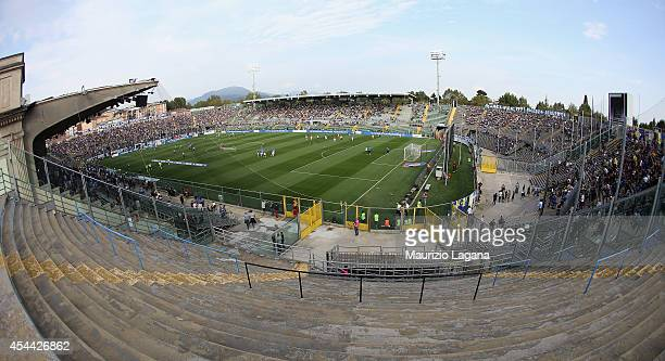 A general view of stadium during the Serie A match between Atalanta BC and Hellas Verona FC at Stadio Atleti Azzurri d'Italia on August 31 2014 in...