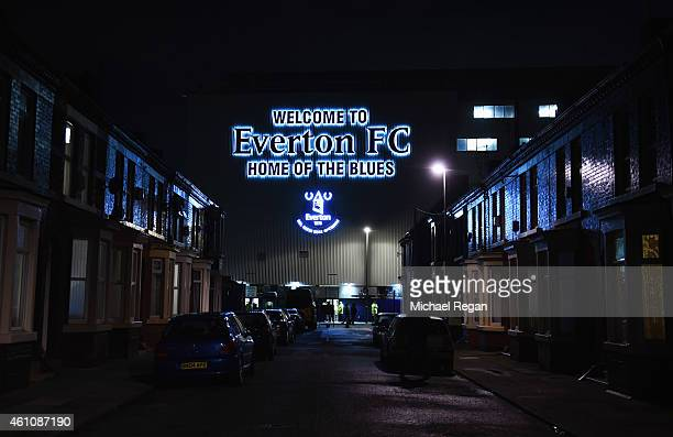 A general view of stadium prior to the FA Cup Third Round match between Everton and West Ham United at Goodison Park on January 6 2015 in Liverpool...