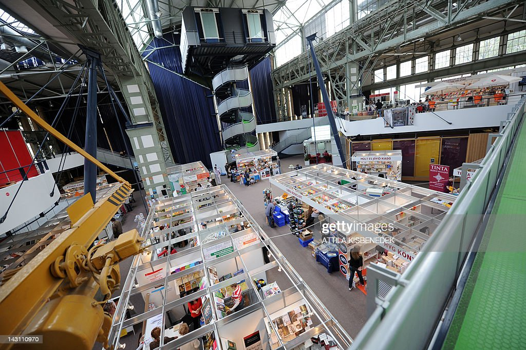 A general view of stalls at the 19th International Book Festival (IBF), held in the Millenaris Culture Center in Budapest, on April 19, 2012. Budapest's 19th International Book Festival, one of the biggest in central Europe, opened today featuring popular Nordic writers as this year's guests of honour. More than 20 northern European writers will attend the four-day event in the Hungarian capital, including award-winning Swedish crime novelist Hakan Nesser, Norway's Jostein Gaarder, Danish author Janne Teller and Leena Lehtolainen from Finland.