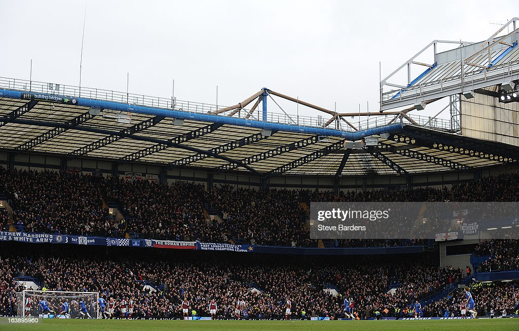 A General View of Stamford Bridge during the Barclays Premier League match between Chelsea and West Ham United at Stamford Bridge on March 17, 2013 in London, England.