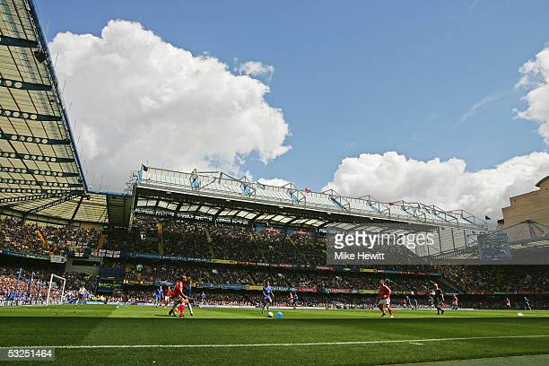 A general view of Stamford Bridge during the Barclays Premiership match between Chelsea and Charlton at Stamford Bridge on May 7 2005 in London...