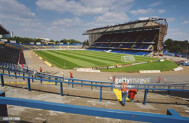 A general view of Stamford Bridge home of Chelsea FC circa 1992 in London England