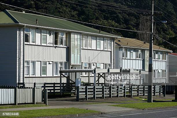 A general view of state houses on July 16 2016 in Stokes Valley New Zealand Rising property prices and rents have contributed to a housing shortage...