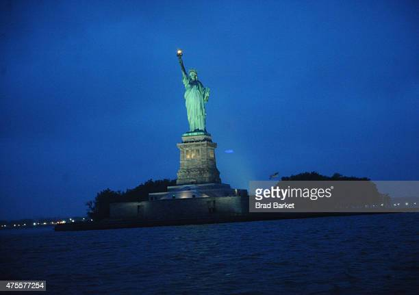 General view of Statue of Liberty as seen from Hornblower Infinity at the Pepsi and iHeartRadio Summer Kickoff Party on June 1 2015 in New York City