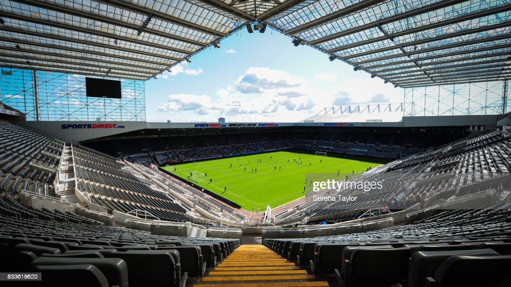 A general view of St.James' Park during a Newcastle United Open Training session at St.James' Park on August 17, 2017, in Newcastle upon Tyne, England.