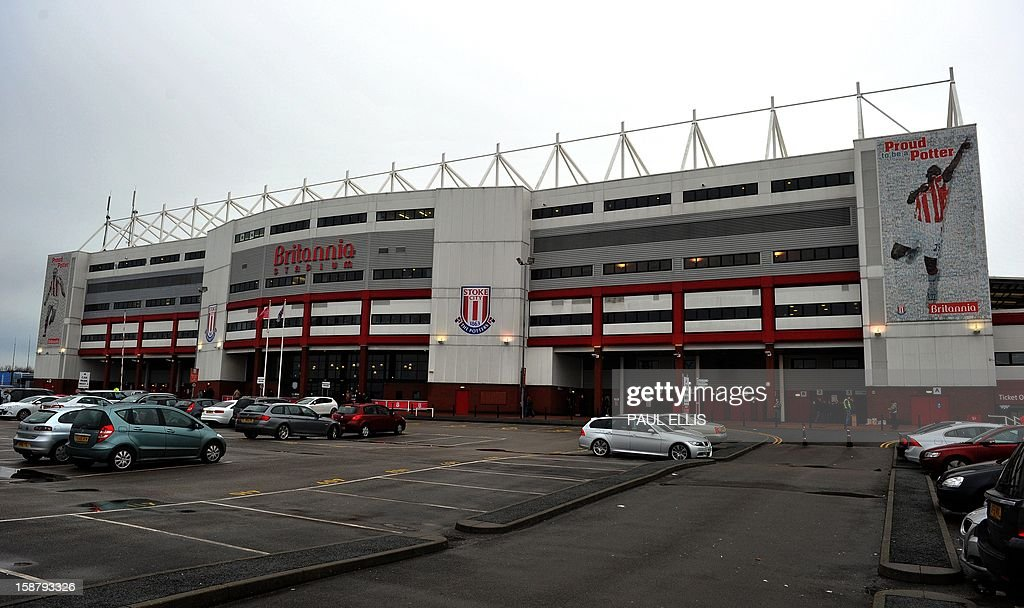 A general view of Stoke City's Britannia Stadium in Stoke-on-Trent, England, on December 29, 2012. AFP PHOTO/Paul Ellis PUBLICATIONS ==