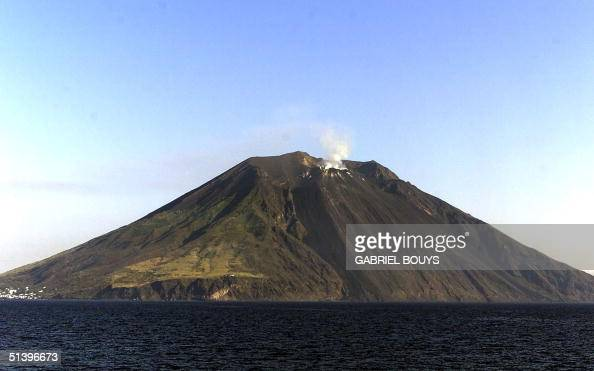 General view of Stromboli Island and his volcano Located on the 'other' side of Stromboli one of the handful volcanic islands north of Sicily...