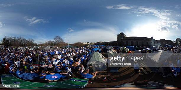 A general view of students prior to the Duke Blue Devils versus North Carolina Tar Heels game at Cameron Indoor Stadium on March 5 2016 in Durham...