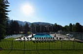 A general view of Sun Valley Resort on July 9 2012 in Sun Valley Idaho The resort will host corporate leaders for the 30th annual Allen Co media and...