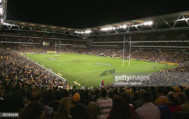 A general view of Suncorp Stadium during the Bundaberg Rum International Rugby Test match between the Australian Wallabies and France at Suncorp...
