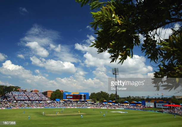 A general view of SuperSport Park taken during the ICC Cricket World Cup 2003 Pool A match between Australia and India held on February 15 2003 at...