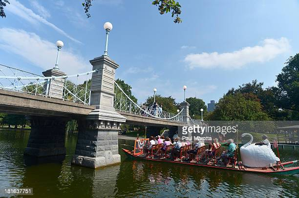 A general view of Swan Boat rides on the Boston Common on September 12 2013 in Boston MA