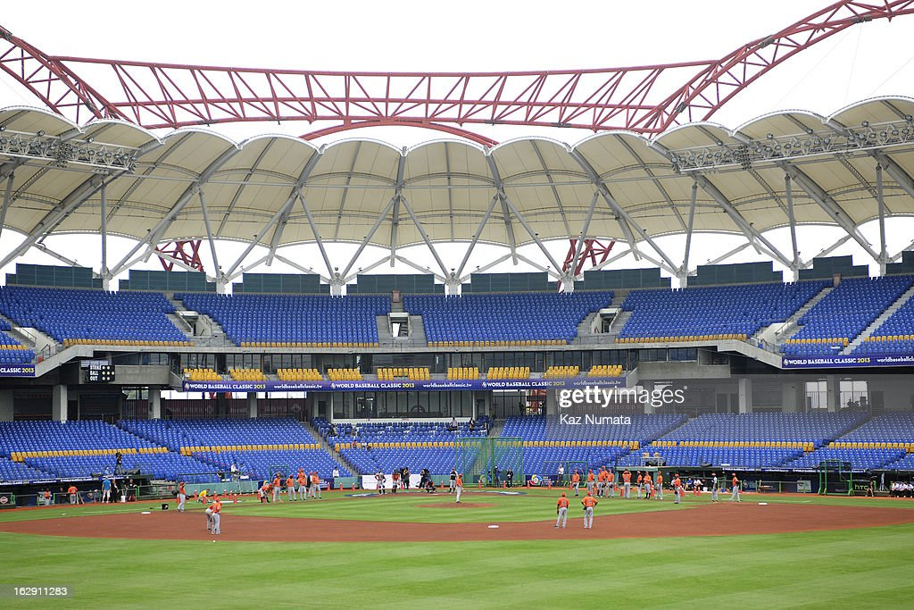 A general view of Taichung Intercontinental Baseball Stadium during the World Baseball Classic workout day of Team Netherlands at Taichung Intercontinental Baseball Stadium on March 1, 2013 in Taichung, Taiwan.