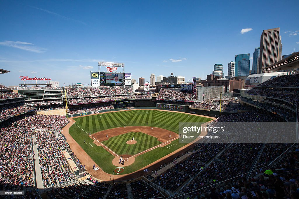 A general view of Target Field during the game between the Minnesota Twins and the Texas Rangers on April 27, 2013 at Target Field in Minneapolis, Minnesota. The Twins defeated the Rangers 7-2.