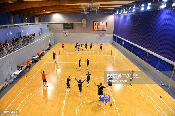 General view of team France during a training session of the French volleyball national team on June 28 2017 in Vincennes France