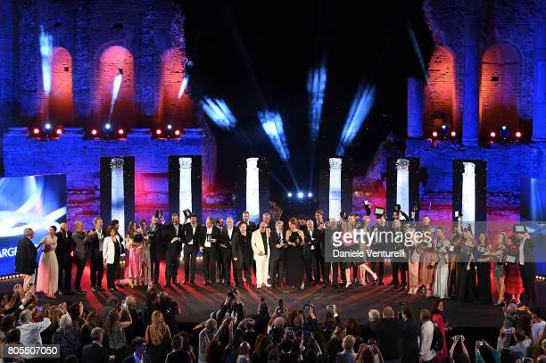 General view of Teatro Greco during the Nastri D'Argento 2017 Awards Ceremony on July 1 2017 in Taormina Italy