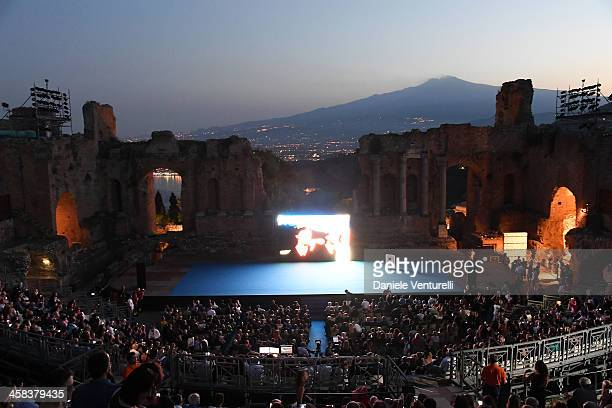 General view of Teatro Greco during the Nastri D'Argento on July 2 2016 in Taormina Italy
