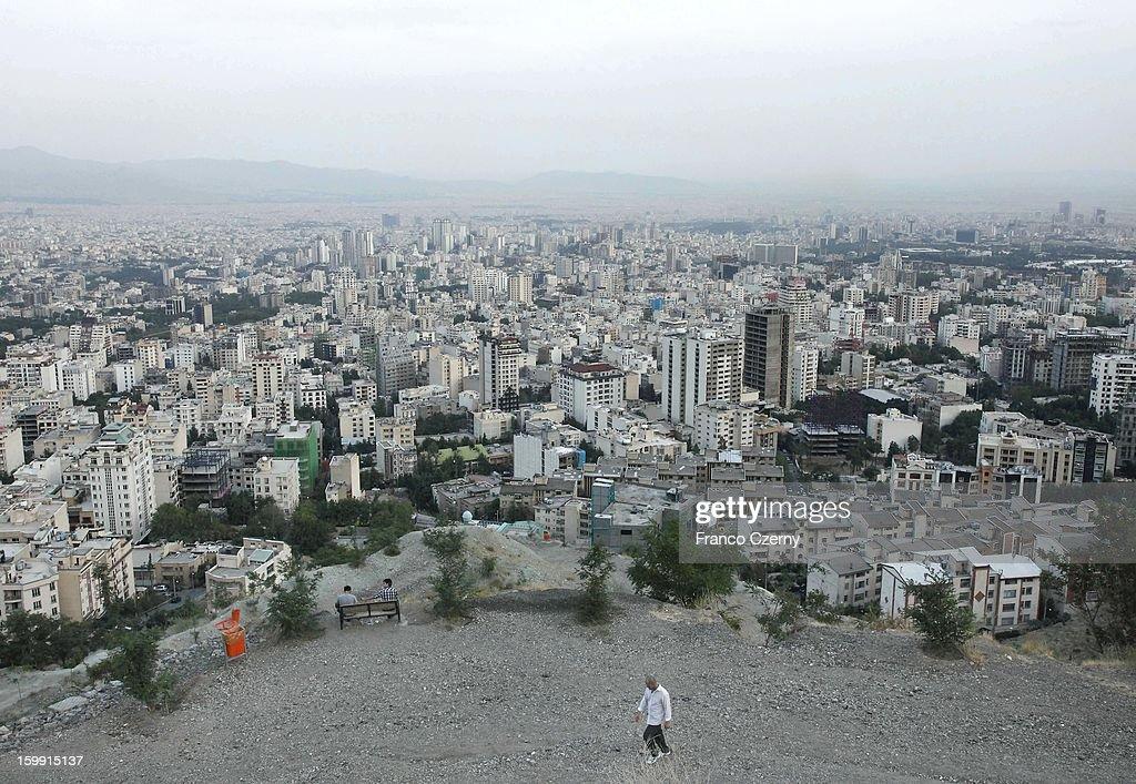 General view of Tehran on August 28, 2012 in Tehran, Iran.