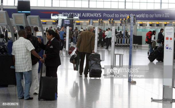 A general view of Terminal 5 at Heathrow Airport in London
