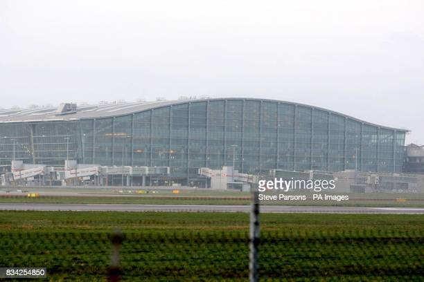 A general view of Terminal 5 the Queen will officially open the 43 billion new terminal at Heathrow today less than 24 hours after an intruder was...
