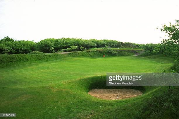 General view of the 10th green at Royal Birkdale GC in Southport England Mandatory Credit Stephen Munday /Allsport