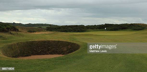 A general view of the 10th green during the Glenmuir PGA Professional Championship at Dundonald Links on June 18 2009 in Dundonald Scotland