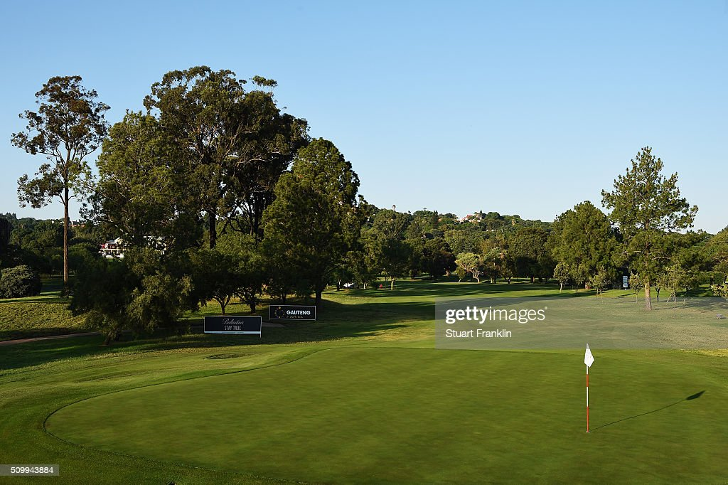 A general view of the 10th hole before the third round of the Tshwane Open at Pretoria Country Club on February 13, 2016 in Pretoria, South Africa.