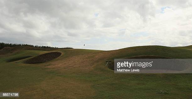 A general view of the 11th green during the Glenmuir PGA Professional Championship at Dundonald Links on June 18 2009 in Dundonald Scotland