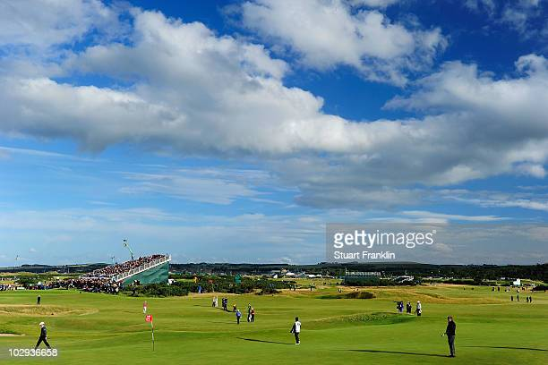 A general view of the 11th green during the second round of the 139th Open Championship on the Old Course St Andrews on July 16 2010 in St Andrews...