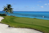 General view of the 11th green during the Virgin Atlantic PGA National ProAm Championship Practice Round at Sandals Emerald Bay Resort on November 26...