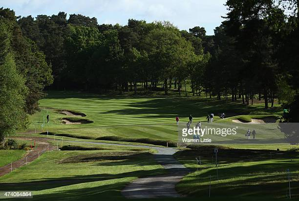 General View of the 11th hole during the ProAm ahead of the BMW PGA Championship at Wentworth on May 20 2015 in Virginia Water England