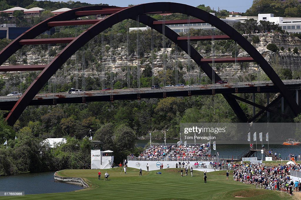 A general view of the 12th green as Rory McIlroy of Northern Ireland putts during the round of 8 in the World Golf ChampionshipsDell Match Play at...
