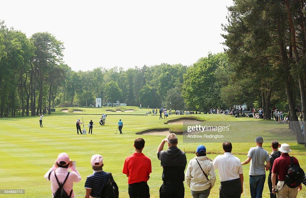 General View of the 12th hole during day three of the BMW PGA Championship at Wentworth on May 28, 2016 in Virginia Water, England.