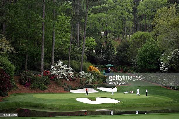 A general view of the 12th hole during the third round of the 2008 Masters Tournament at Augusta National Golf Club on April 12 2008 in Augusta...